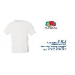 Camiseta Niño: 610010B